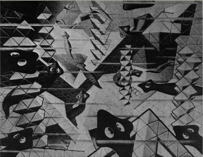 Picture: From The World of M.C. Escher by I.L. Locher © Meulenhoff