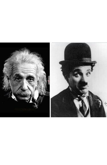 Картинка: Альберт Эйнштейн и Чарли Чаплин