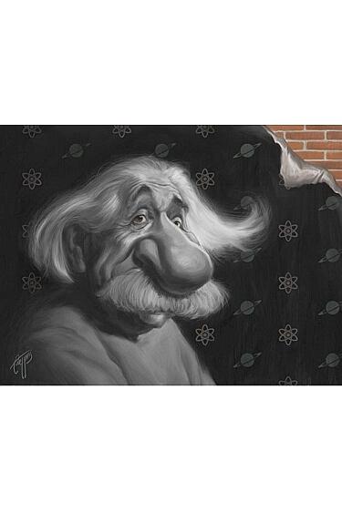 Картинка: Шарж на Альберта Эйнштейна