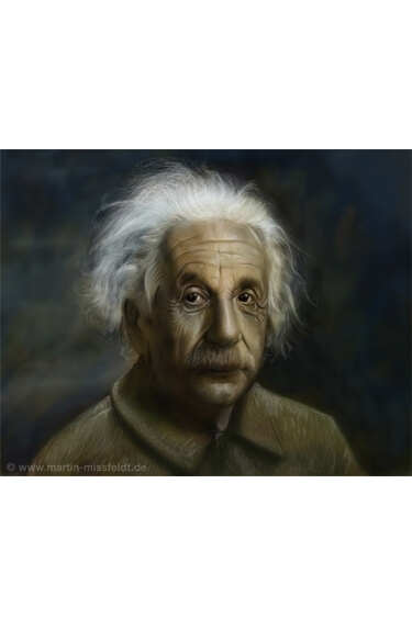 Картинка: Отфотошопленый Альберт Эйнштейн