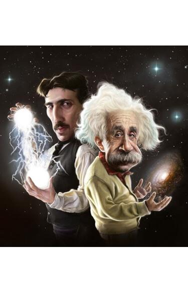 Картинка: Альберт Эйнштейн и Никола Тесла