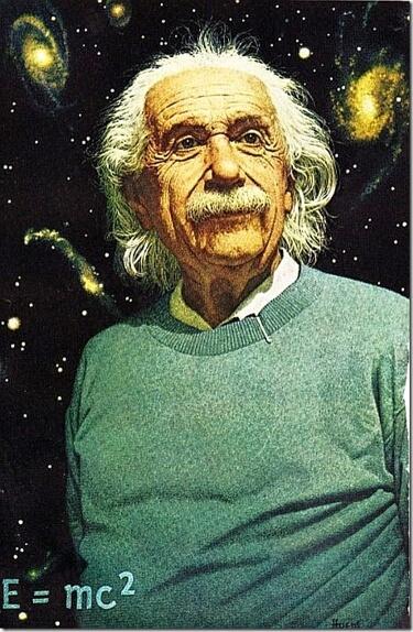Картинка: Фото Альберта Эйнштейна на обложке National Geographic