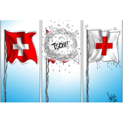 Картинка: Швейцарский юмор эпохи коронавирусной пандемии