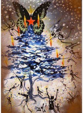 Картинка: Рождественская открытка Сальвадора Дали