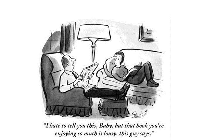 Картинка: Я не могу сказать тебе это, детка, но эта книга, которая тебе так нравится, паршивая, говорит этот парень