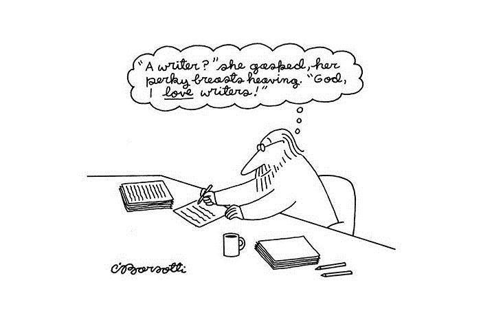 Картинка: Писатель? она ахнула, ее задорные груди вздымались. Боже, я люблю писателей!